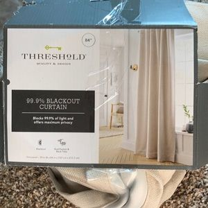 Threshold black out curtain panel